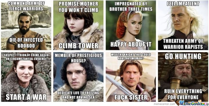 All The Game of Thrones Memes